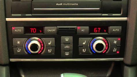 auto air conditioning service 2012 audi q7 transmission control 2014 audi q7 automatic climate control youtube