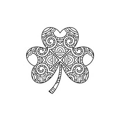 Coloring Shamrock Pages Trinity Printable St Ireland