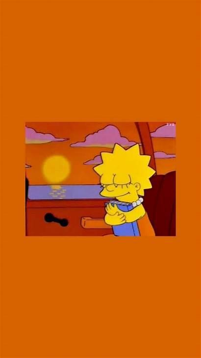 Simpson Lisa Aesthetic Lockscreens Simpsons Icons Wallpapers