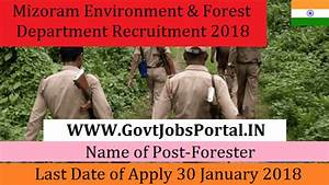 Mizoram Environment & Forest Department Recruitment 2018 ...