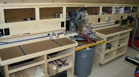 garage work station mitre saw stations search workshop