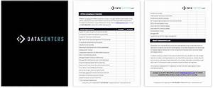 data centers checklists With data center checklist template