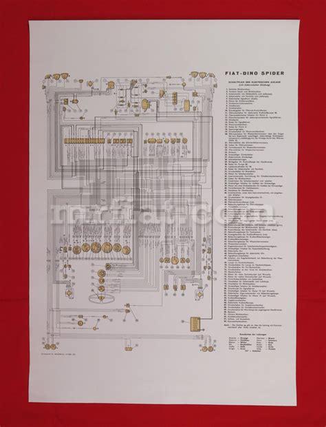 Fiat 600 Wiring Diagram by Fiat Dino 2000 Spider Wiring Diagram 59x84 Cm New Ebay