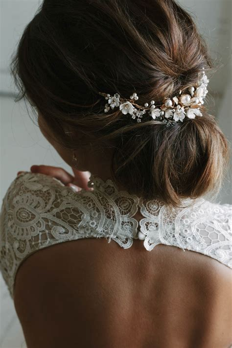SOMERSET | Delicate floral bridal headpiece - Tania Maras