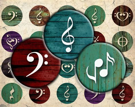 What exactly does this mean? Music Symbols on Grunge Style Wood Digital Download - 30mm ...