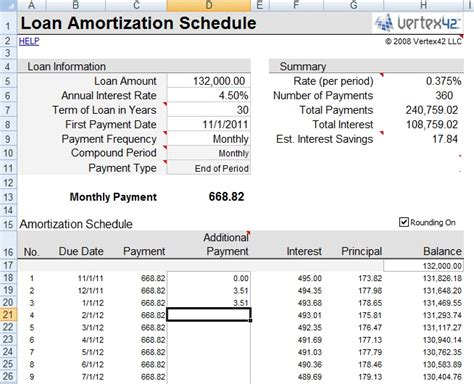 loan amortization calculator amortization calculator excel spreadsheet