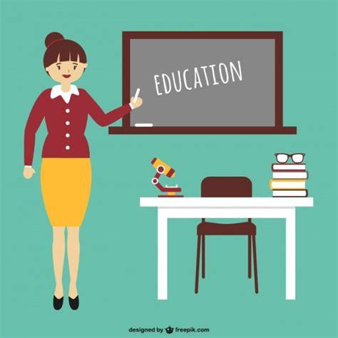 Istruzione cartone animato con l'insegnante Scaricare