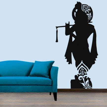 creative width lord krishna wall decal add oodles