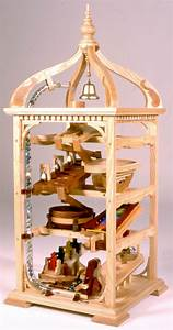 Bell Tower Marble Machine Woodworking Plan - Forest Street