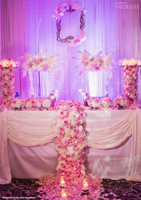 Gorgeous Pink And White Wedding Reception Decor Luxe Head