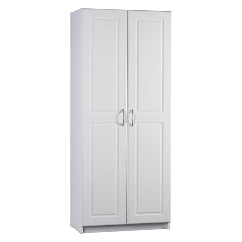 white pantry storage cabinet ameriwood contemporary deluxe double door pantry cabinet