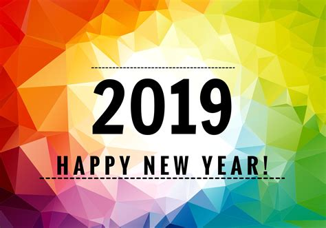 Colorful Happy New Year 2019
