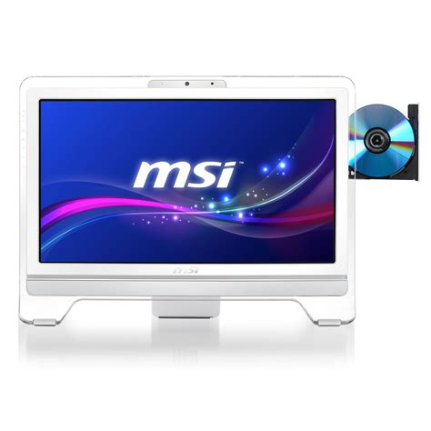 pc bureau sans os msi wind top ae2051 056xeu blanc pc de bureau msi sur