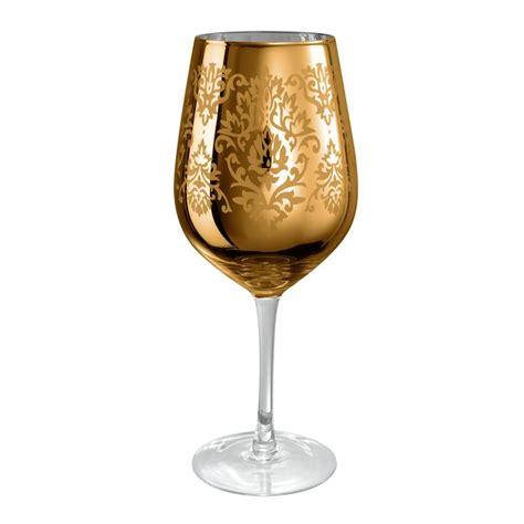 artland brocade gold goblet wine glass  oz