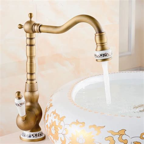 vintage bathroom sink faucets 2016 free shipping ceramic antique brass faucet bathroom