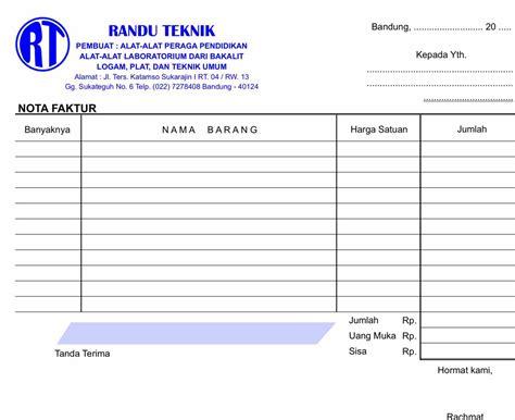 Contoh Surat Promosi Penjualan Barang Elektronik by Bandung Java With Cetak Bon Faktur Dan
