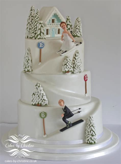 skiing wedding cake cake  cakes  christine cakesdecor