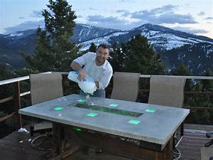 Stunning Led Concrete Patio Table With A Built