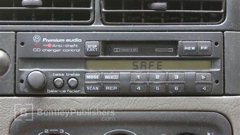 vw  audi   enter  radio code radio display reads