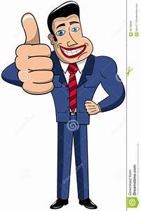 Businessman Cartoon Thumb Up Stock Vector - Illustration ...