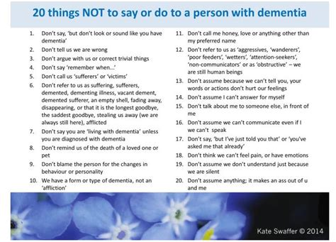20 Things Not To Say To Someone Living With Dementia