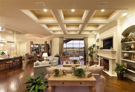 how to build coffered ceiling living room traditional with tv above fireplace coffered ceiling