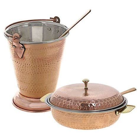 traditional indian serveware copper bucket  serving bo httpswwwamazoncomdp