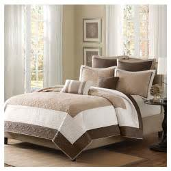 Brown Quilted Coverlet by Brown Ivory 7 Quilt Coverlet