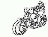 Coloring Motorcycle Pages Drawing Printable Simple Motorbike Motorcycles Sheets Motorbikes Bestcoloringpagesforkids Harley Boys Crayons Template sketch template