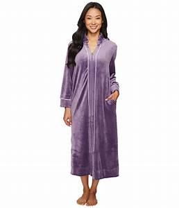 carole hochman petite velour zip robe lounge foulard With robe carole