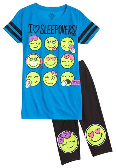 Emoji Legging Pajama Set (original price $14.99) available at #Justice   sleepoverforj ...