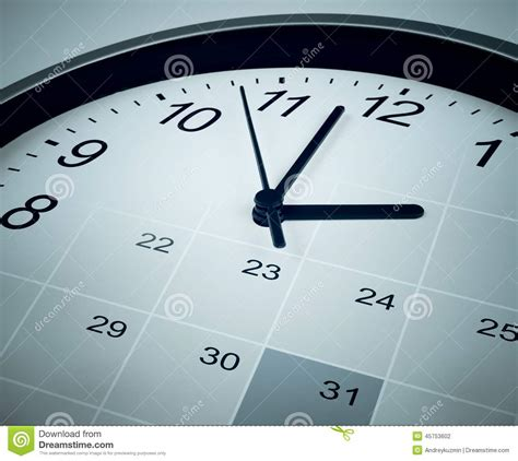 calendar  clock face time manager  agenda stock