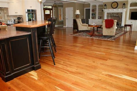 American Cherry Wood Floors Traditional Living Room