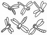 Dragonfly Coloring Pages Dragonflies Printable Cartoon Drawing Simple Dragon Cute Flies Clipart Colouring Cliparts Clip Fly Realistic Drawings Template Insect sketch template