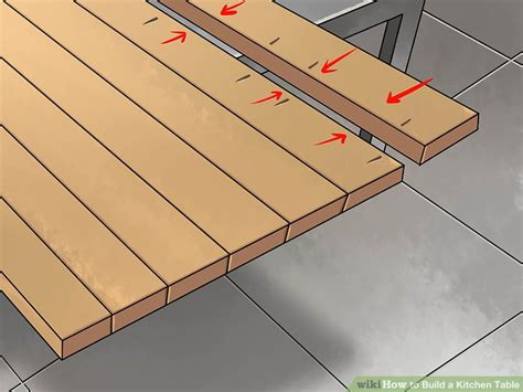 make kitchen table how to build a kitchen table with pictures wikihow