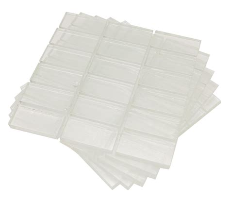 1 x 2 clear crafting tiles 18 5 pack delphi glass