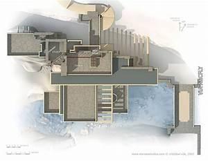 Frank Lloyd Wright Gebäude : planos de la casa de la cascada de frank lloyd wright architektur architektur haus und bau ~ Buech-reservation.com Haus und Dekorationen