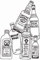 Alcohol Dibujos Botellas Coloring Guardado Desde sketch template