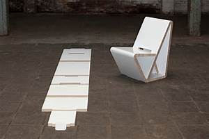 Thonet39s VouwWow VW01 Is A Flat Pack Recycled Honeycomb
