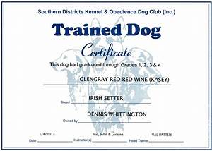 dog obedience certificate images With dog training certification