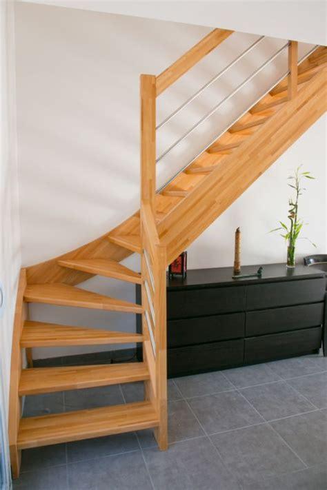 escalier bois 1 4 tournant inox 224 labenne 40 vente d escaliers et gardes corps en bois pays