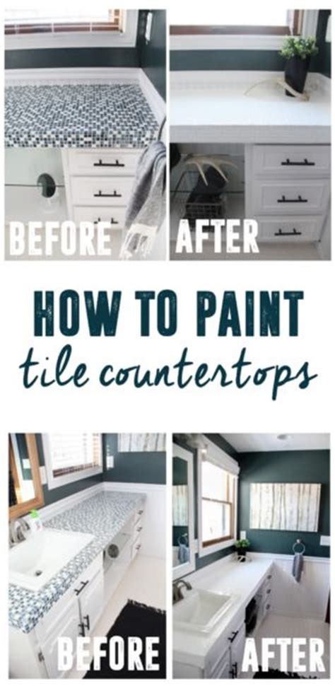 how to paint ceramic tile countertops how to paint tile countertops and our modern bathroom