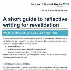 reflective journal template nmc revalidation library knowledge service