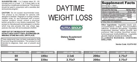 label day time weight loss supplement 1 844 my nutra