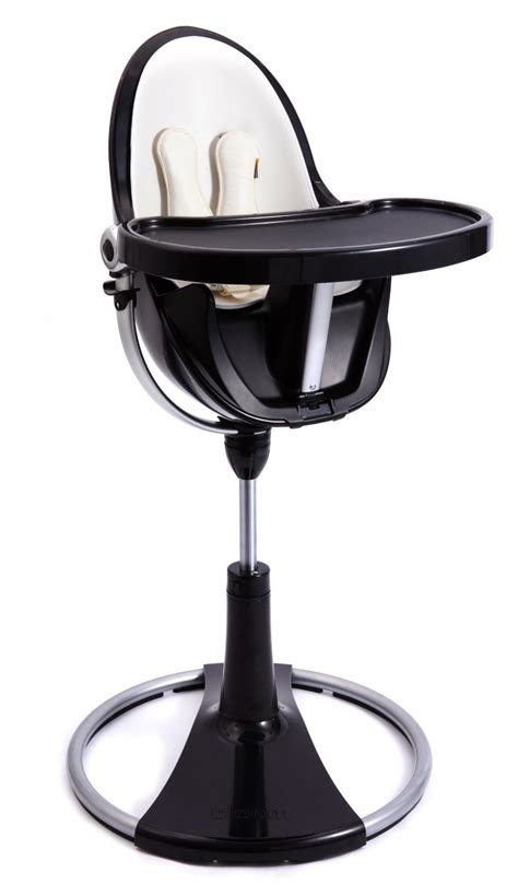 bloom fresco chrome contemporary high chair black white