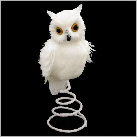 snowy owl feathered tree topper  perfect   top