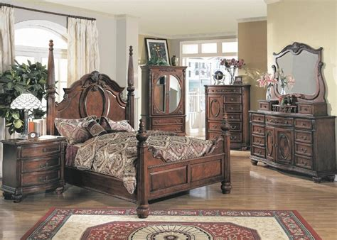 Size Poster Bedroom Sets by 1pc King Size Bed Formal Traditional Cherry Poster Bed