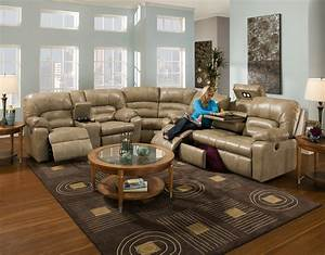 Furniture modern sectional couch design with round table for Sectional couch living room layout
