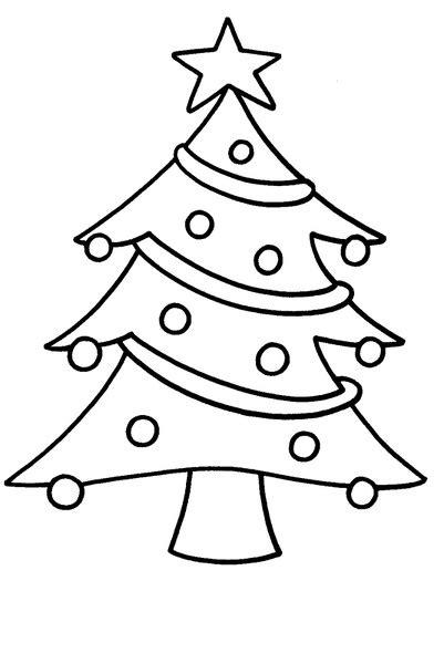 dibujos de un arbol de navidad arbol de navidad para colorear