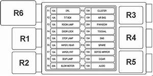 Chevrolet Spark  2005 - 2010   U2013 Fuse Box Diagram